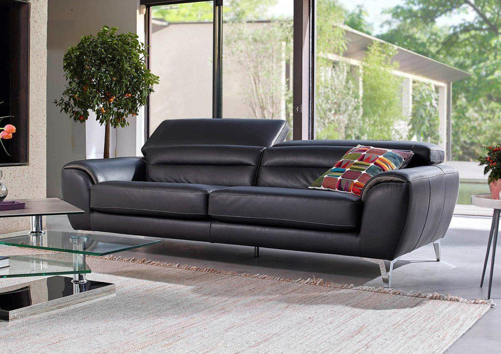 Milano Sofa - Leather sofa with adjustable backrests