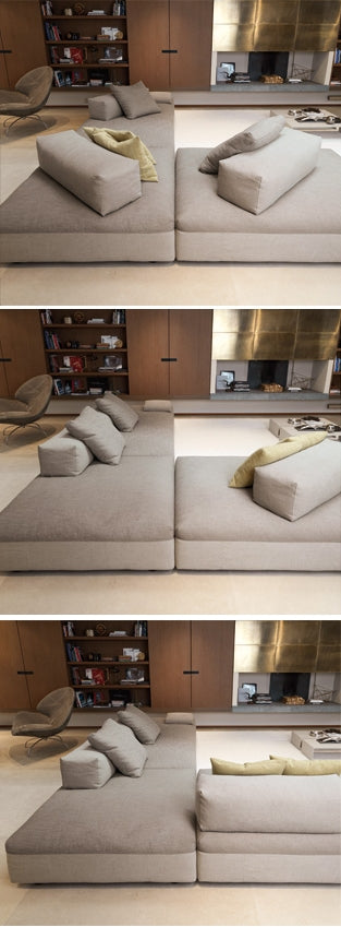 Different modular configurations for the Monopoli Sofa