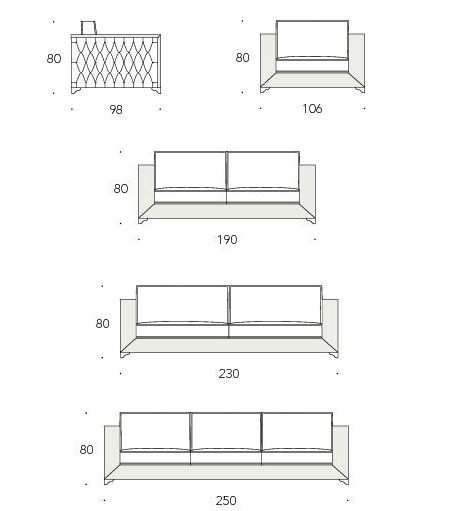Museo Sofa product specs