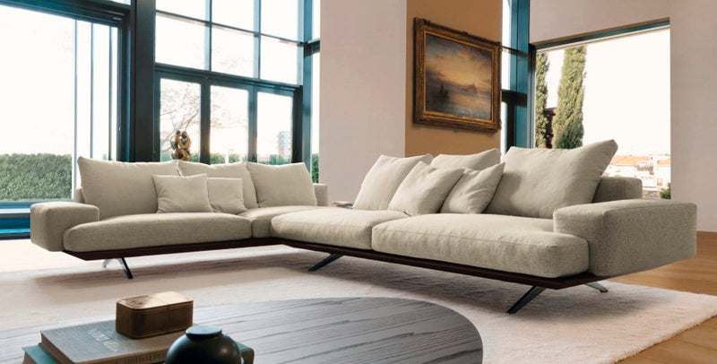 Living room full of contemporary Italian furniture