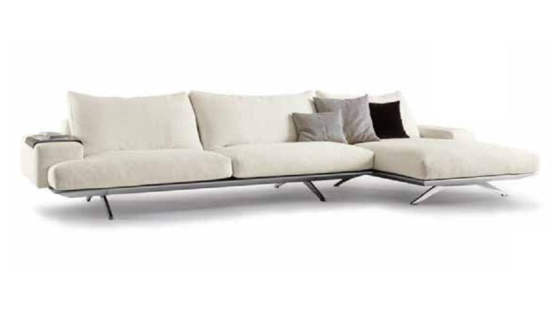 Platz white Sofa with white backdrop