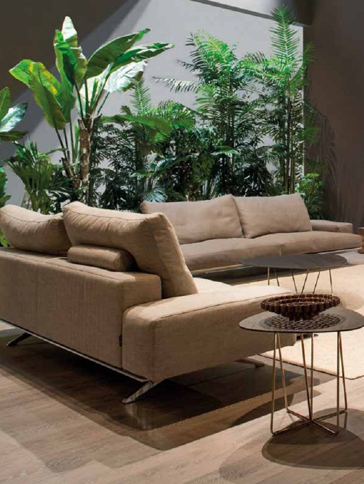 Tan Platz Sofa made in Italy