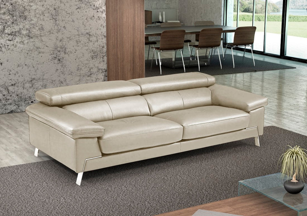Recline Sofa - tan Italian sofa