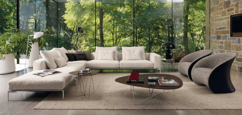 Savoye Sectional - large white sectional Italian sofa