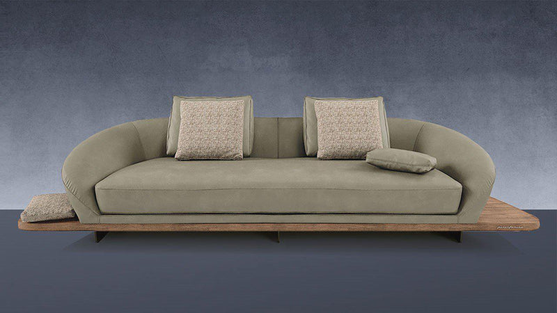 Segno Sofa Wood Mod. B - High end sofa  designed by Pininfarina for Reflex and made in Italy