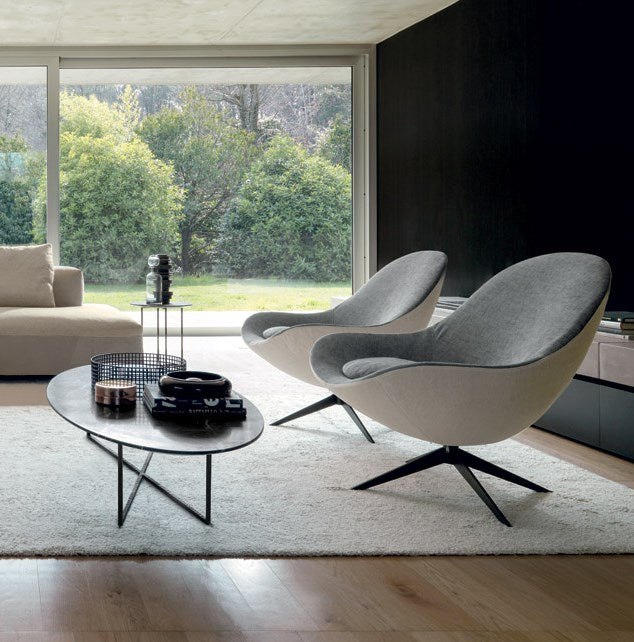 Soor Chair - Modern swiveling sofa chairs by Desiree made in Italy
