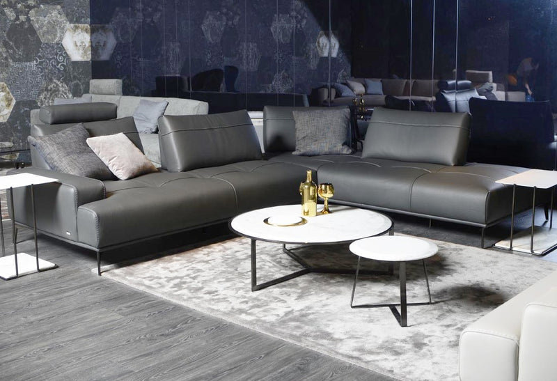 Italian sofa / sectional with adjustable backrests