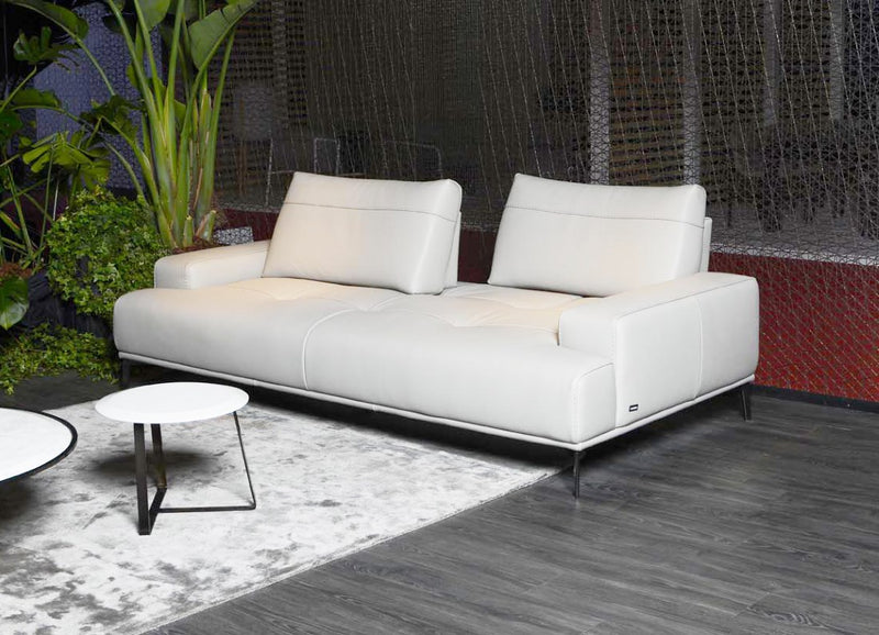 White Egeo sectional sofa made in Italy