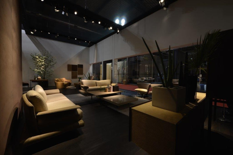 Modern Italian designed room with luxury sofa designed by Giorgio Saporiti for  Il Loft made in Italy