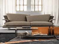 Luxury end sofa designed by Giorgio Saporiti for Il Loft made in Italy