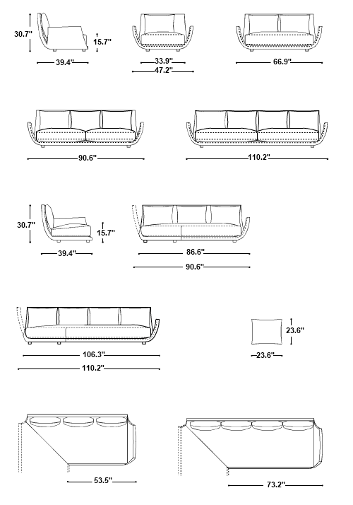 Tuliss Sofa by Desiree product specs