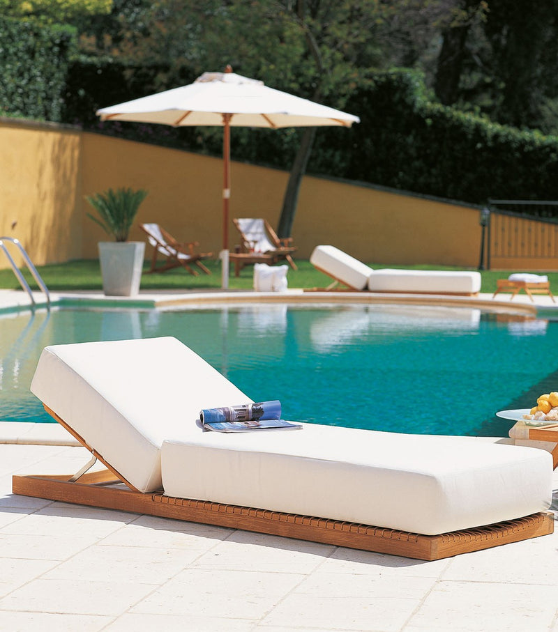 View of removable cushion on Synthesis Sun Lounger designed by Unopiú