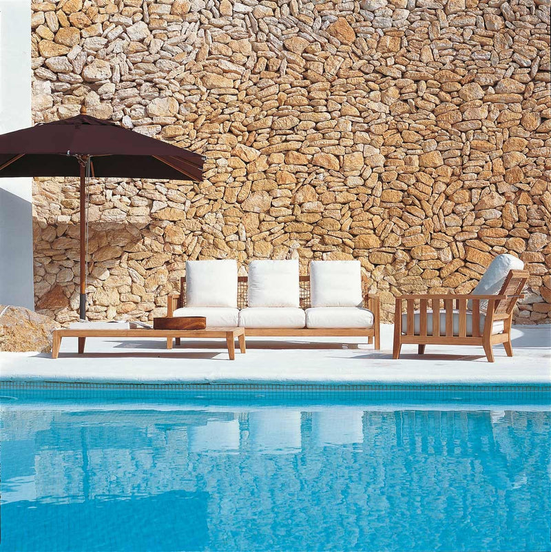 pool surrounded by Italian furniture