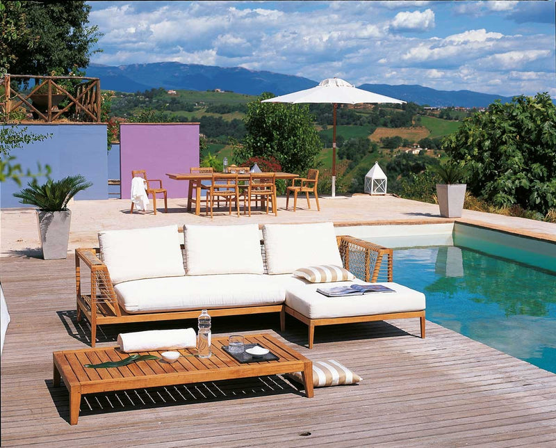 Pool deck with outdoor Italian furniture