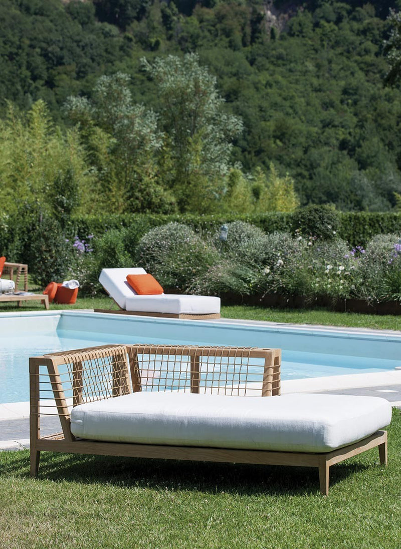 Synthesis Sofa in lounge configuration next to pool