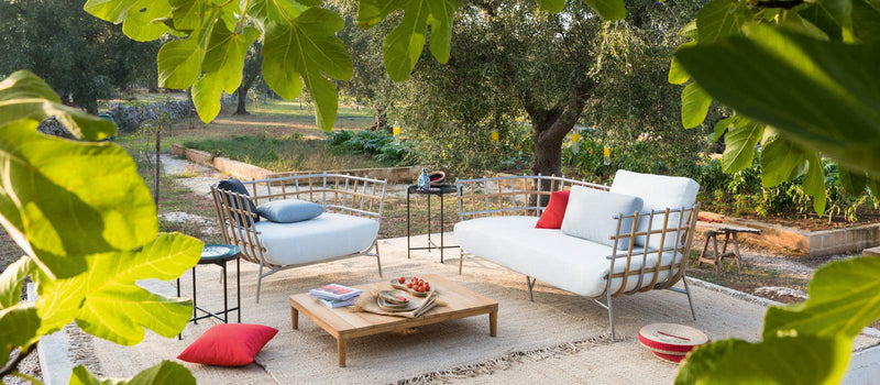 beautiful bucolic patio with Italian furniture