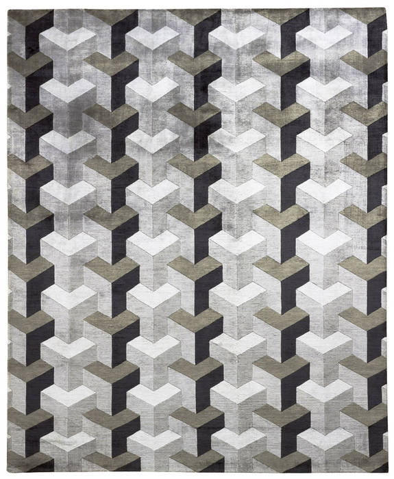 Verner Panton - Ypsilon - Modern  carpet with geometric design by Verner Panton