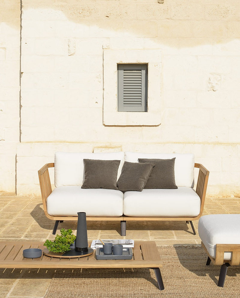 Unopiu outdoor sofa on Italian rooftop lounge