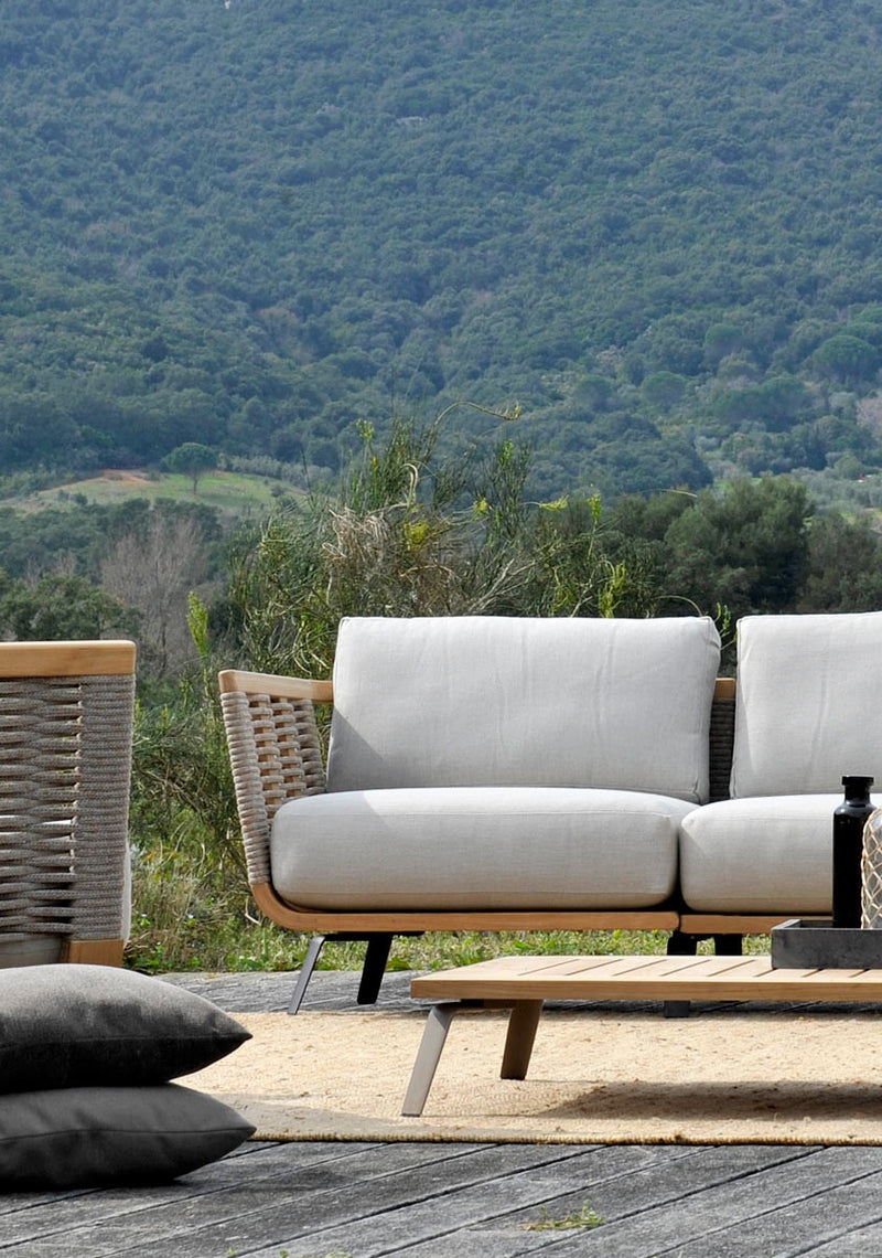 Outdoor Italian sofa on Tuscan hillside