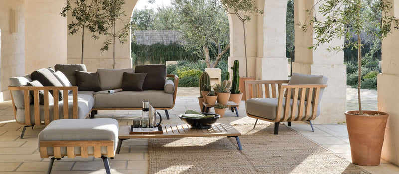 Assortment of Unopiu outdoor furniture pieces