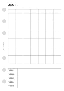 Planner Inserts - A6 Size Projects