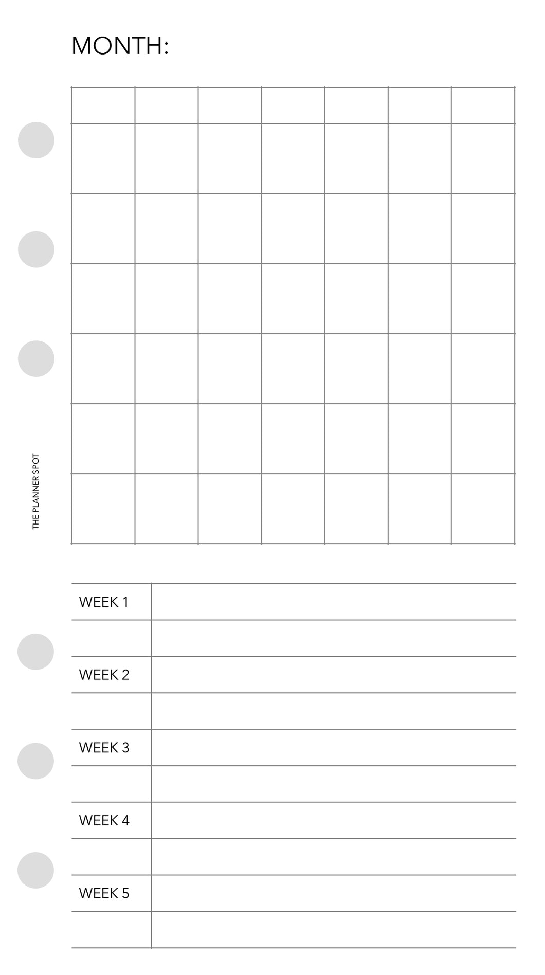 Planner Inserts - Personal Size Projects
