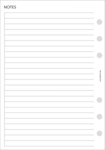 Planner Inserts - Personal Wide Size UNDATED Horizontal Weekly