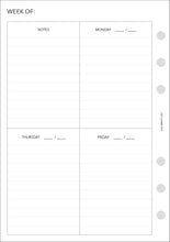 Load image into Gallery viewer, Planner Inserts - Personal Wide Size UNDATED Vertical Weekly