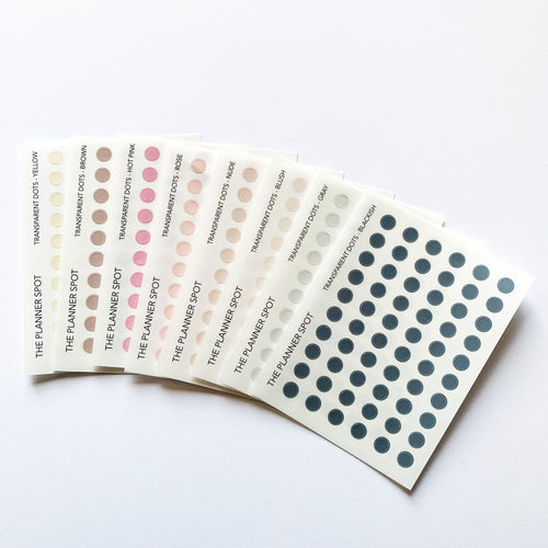 Functional Planner Stickers - Transparent Dots