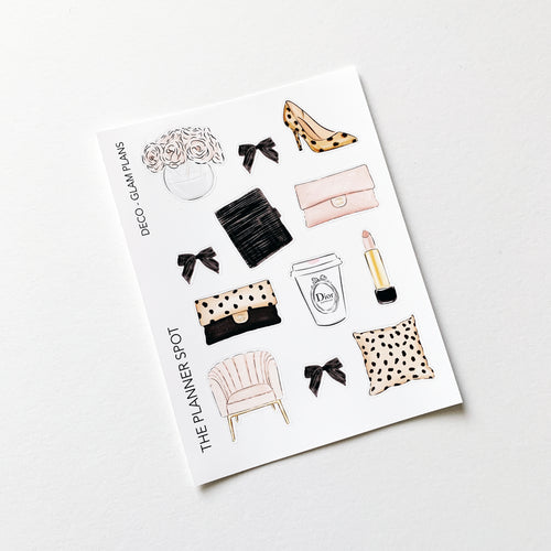 Decorative Planner Stickers - Cheetah