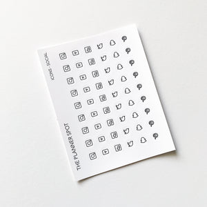 Icon Planner Stickers - Social Media
