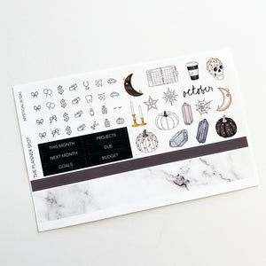 "Monthly Kit Planner Stickers - ""Mystical"" October"