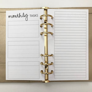 Planner Inserts - Personal Size 2019 Yearly