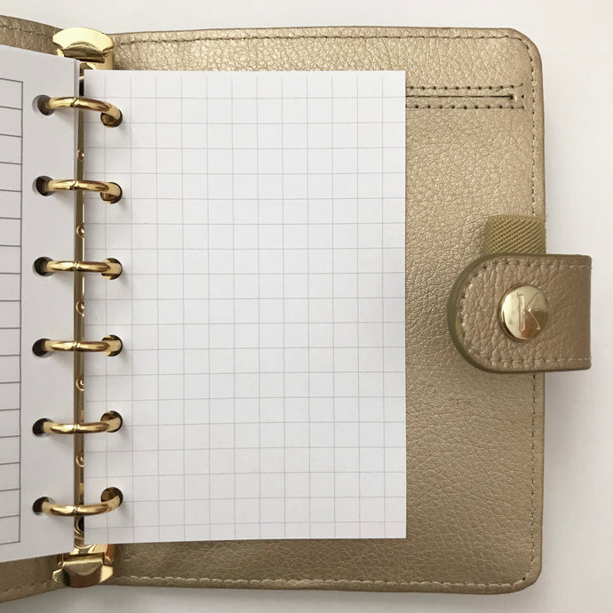 Planner Inserts - Pocket Size Grid Notes