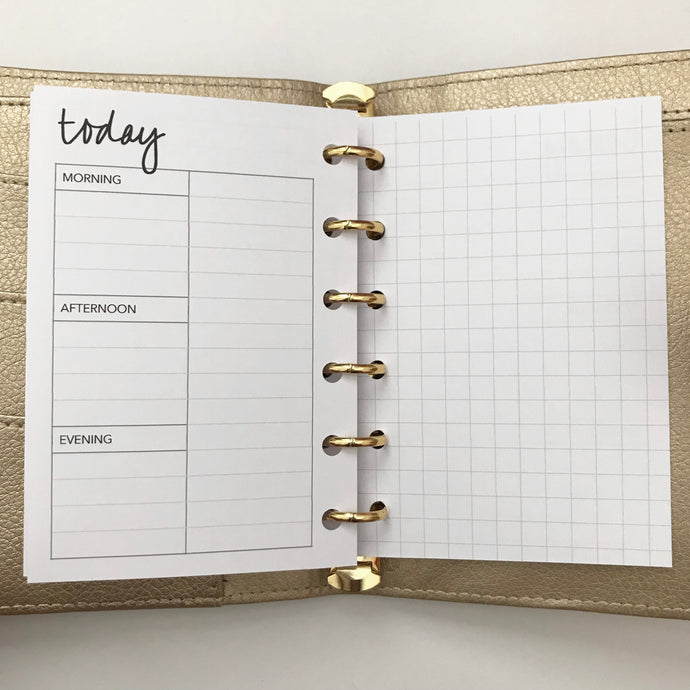 Planner Inserts - Pocket Size UNDATED Daily