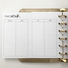 Load image into Gallery viewer, Planner Inserts - Pocket Size UNDATED Weekly Foldout