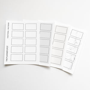 Functional Planner Stickers - Half Boxes