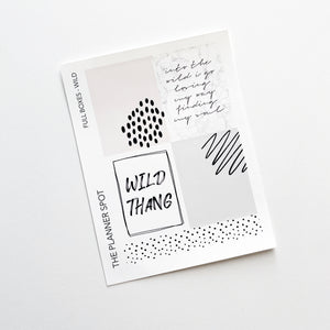 Decorative Planner Stickers - Wild
