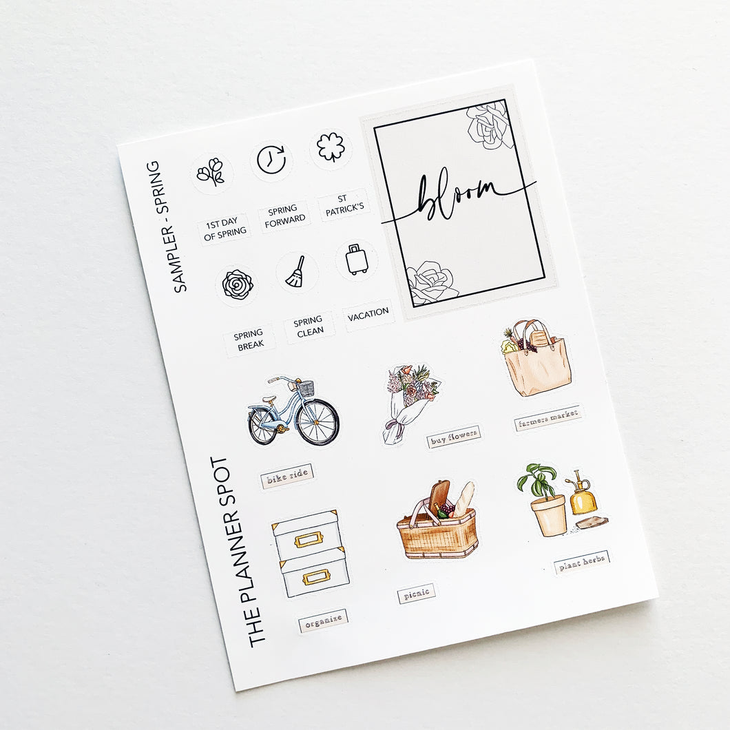Monthly Kit Planner Stickers - March Bucket List