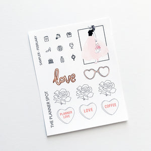 Monthly Kit Planner Stickers- February Bucket List