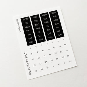 Calendar Planner Stickers - Weeks