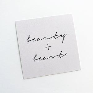 Planner Card - Beauty + Beast