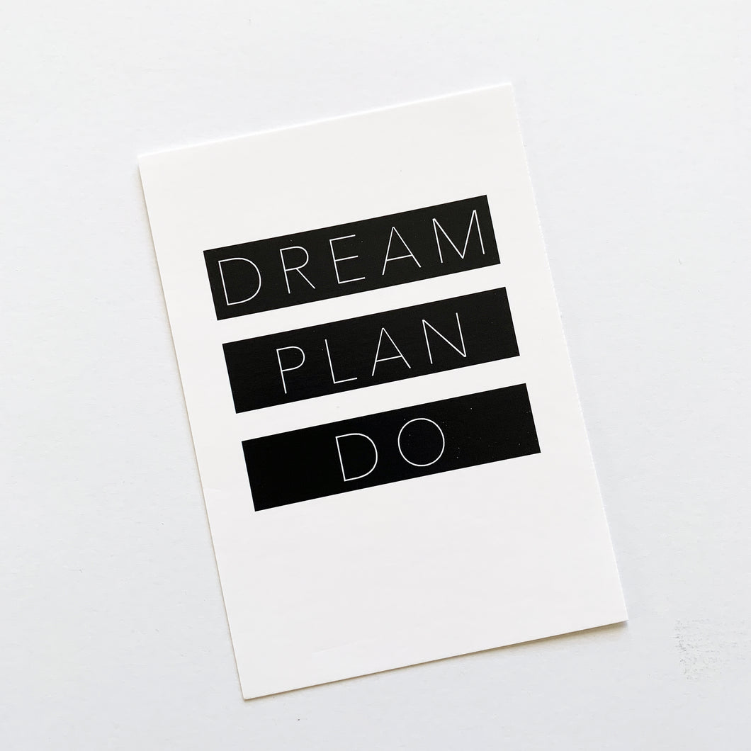 Planner Card - Dream Plan Do