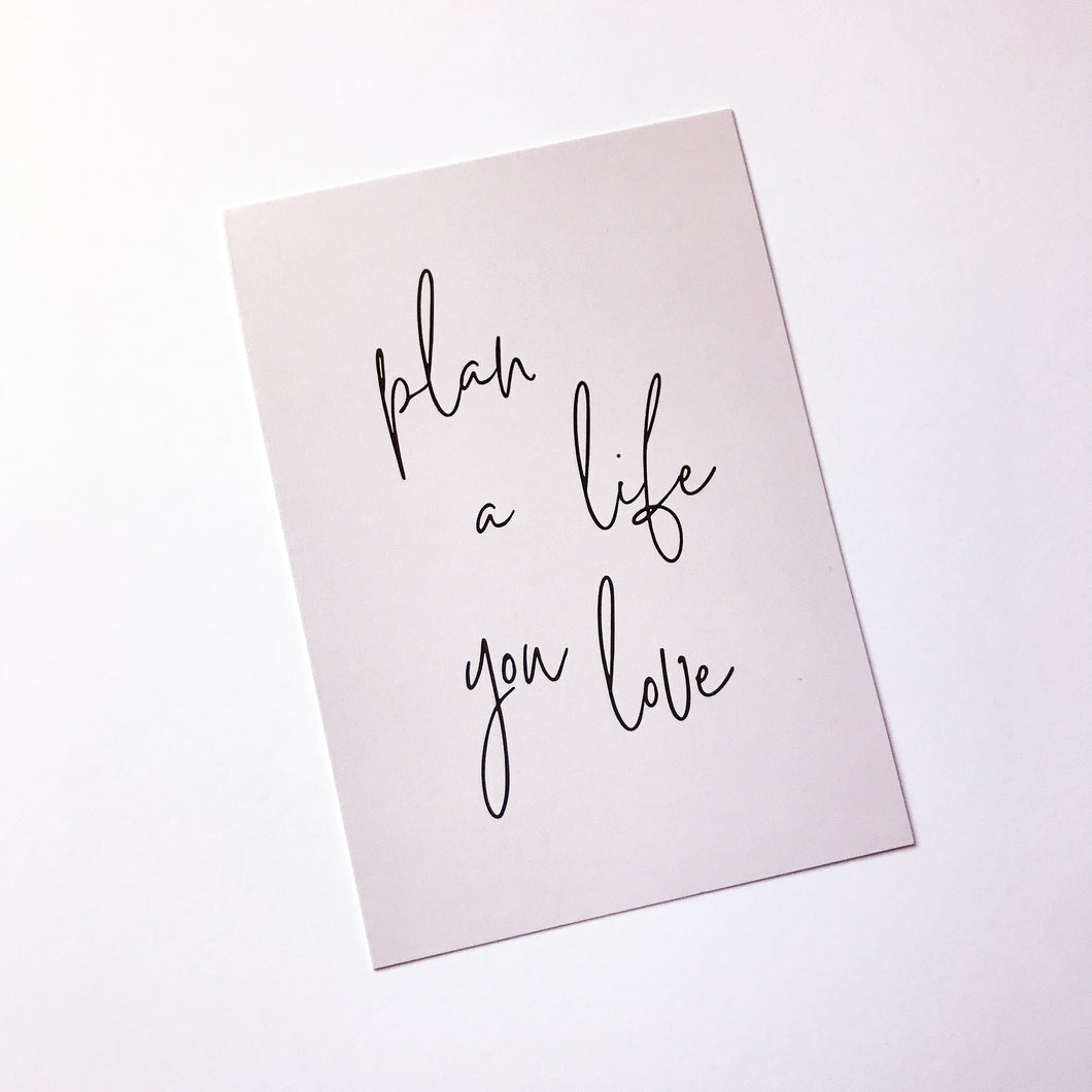 Planner Card - Plan A Life You Love