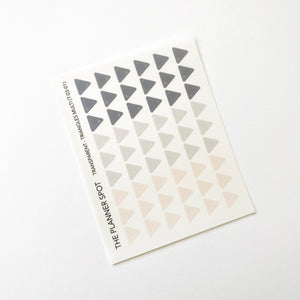 Transparent Planner Stickers - Triangles
