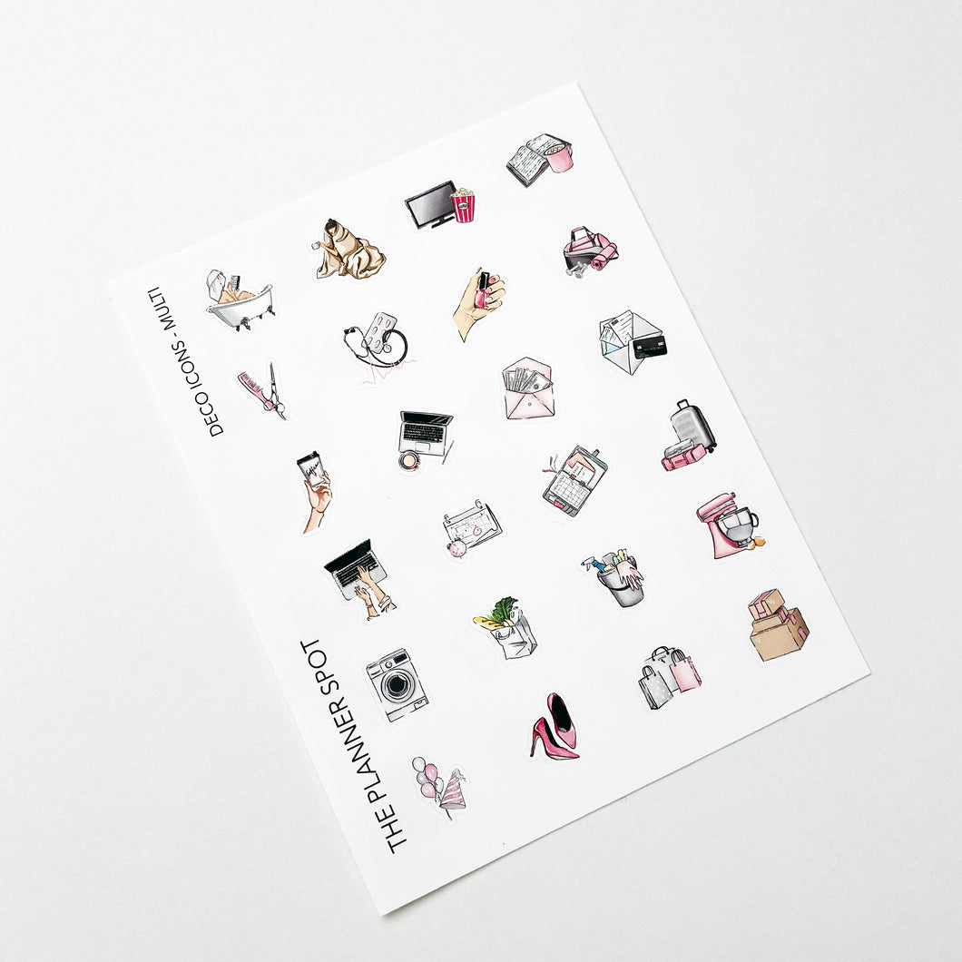Decorative Planner Stickers - Planner Icons