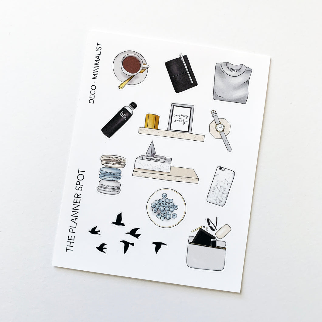 Decorative Planner Stickers - Minimalist