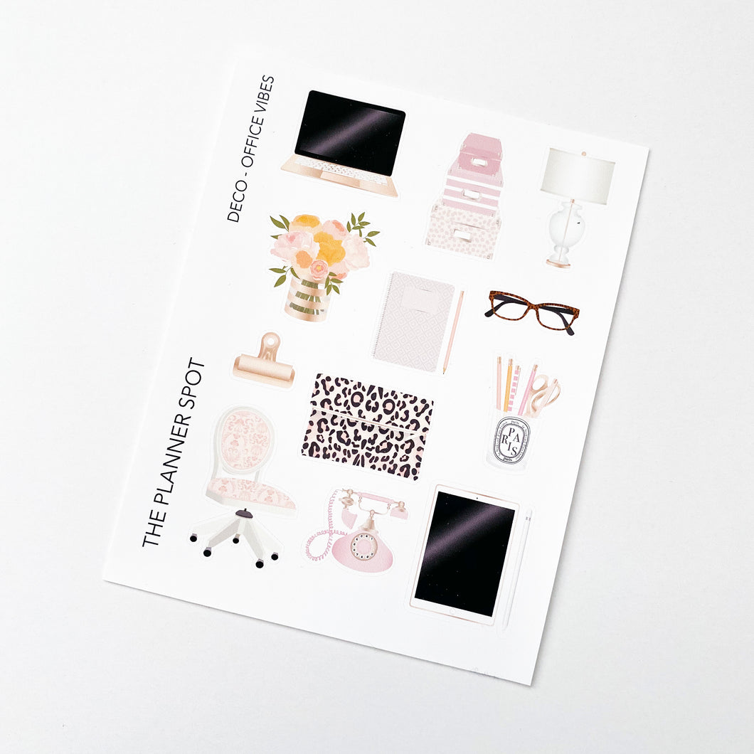 Decorative Planner Stickers - Office Vibes