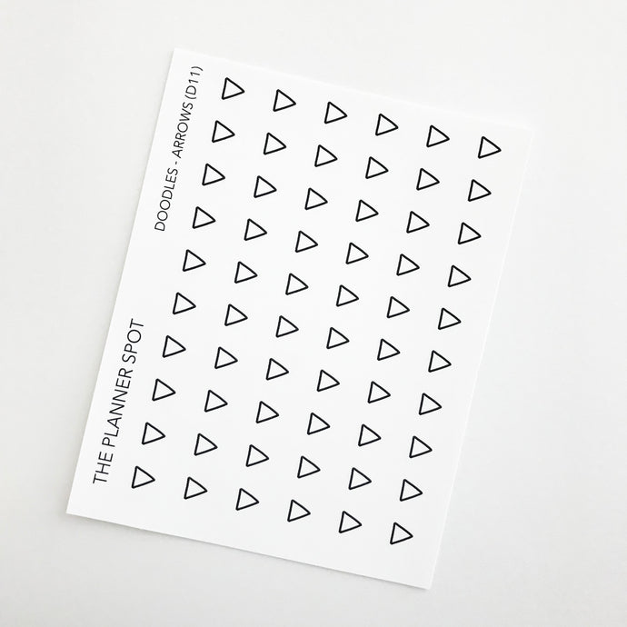 Doodle Planner Stickers - Arrows