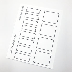 Functional Planner Stickers - Boxes
